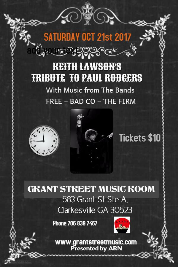 Paul Rodgers & Bad Co. Tribute @ Grant Street Music Room | Clarkesville | Georgia | United States