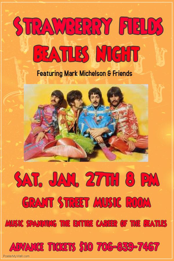 Beatles Night @ Grant Street Music Room   Clarkesville   Georgia   United States